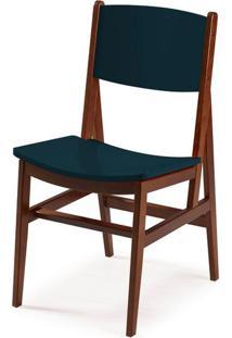 Cadeira Dumon Cor Cacau Com Marinho - 30798 - Sun House