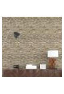 Papel De Parede Adesivo 3D Pedras Bege Np089 Rolo 0,58X3M