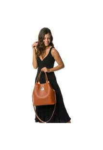 Bolsa Alice Monteiro Sacola American Luxo - Caramelo