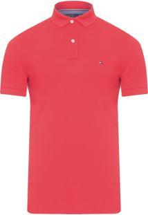 Polo Masculina Regular Fit - Vermelho