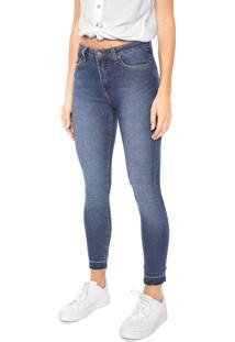 Calça Jeans Calvin Klein Jeans Skinny Desfiada Azul
