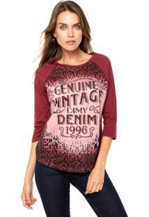Blusa Dimy Vintage Vinho