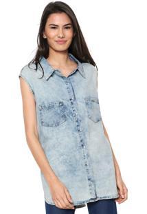 Camisa Jeans Lunender Bolsos Azul