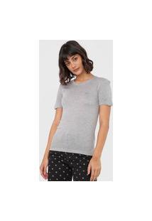 Blusa Calvin Klein Jeans Slim Logo Cinza