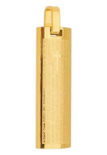 Pingente Pai Nosso Tudo Joias De Aço Inox Dourado - Unissex-Dourado
