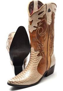 Bota Su Fashion Store Texana Country Feminina - Feminino-Dourado+Caramelo