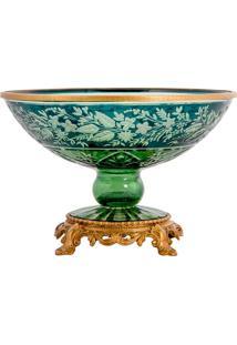 Vaso De Cristal E Bronze - Linha Light Green