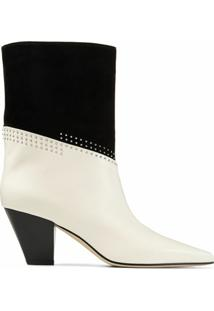 Jimmy Choo Bota Bear Com Salto 85Mm - Branco