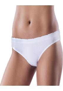 Calcinha Kefel Confort Em Poliamida Sem Costura Com Elastano Branca