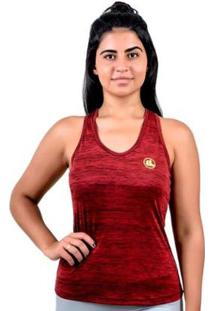 Regata Esporte Legal Rajada Plank Uv45 Feminina - Feminino-Vermelho+Preto