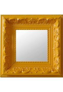 Espelho Moldura Rococó Raso 16131 Amarelo Art Shop