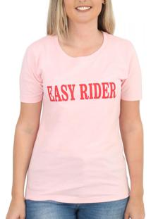 Camiseta Eme B Easy Rider Rosa