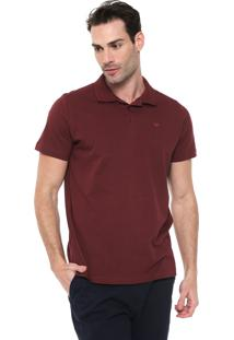 Camisa Polo Colombo Reta Logo Bordô
