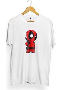 Camiseta Skill Head Deadpool - Masculino-Branco