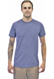 Camiseta Blanks Co Lisa Tubular Importada Mescla Russian Blue