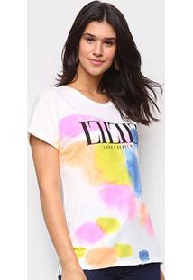 Camiseta Lança Perfume Tie Day Feminina - Feminino-Off White