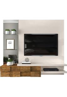 """Home Suspenso Tv Até 55"""" Turim Off White/Demolição"""