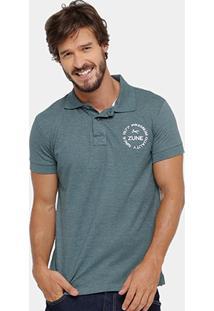 Camisa Polo Zune Piquet Mesclada Bordada Masculina - Masculino