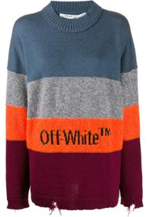 Off-White Suéter Com Logo - Laranja