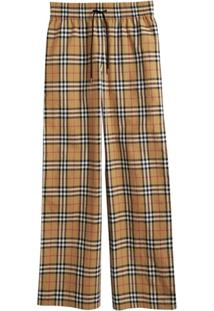 Burberry Vintage Check Drawcord Trousers - Neutro