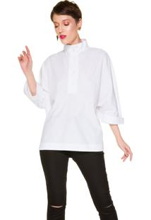 Camisa Belfast Manga 3/4 Branca