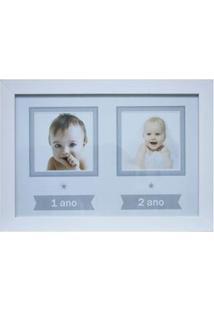 Painel Retangular Para Fotos Kapos Baby Em Madeira 24 X 34 Cm - Branco