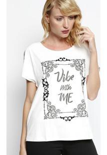 """Blusa Em Suede """"Vibe With Me""""- Off White & Preta - ÊÊNfase"""