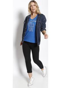 "Camiseta ""All Good Things.."" - Azul & Brancaeasy"