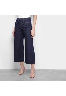 Calça Jeans Pantacout Carmim Feminina - Feminino-Azul Escuro