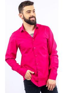Camisa Lupim Slim Fit Pink