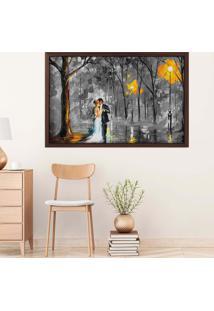 Quadro Love Decor Com Moldura Valsa E Paixã£O Madeira Escura Mã©Dio - Multicolorido - Dafiti