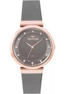 Relógio Feminino Technos 2035Mmw/4C 36Mm Aço - Feminino-Preto