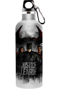 Garrafa Squeeze Liga Da Justiça 750Ml - Urban - Branco / Preto