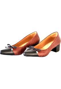 Sapato Prata Couro 1009797 Marsala