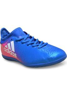 Tenis Masc Adidas Bb5678 X 16 3 In Azul/Pink