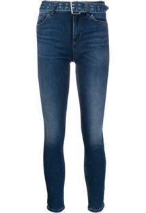 Liu Jo Calça Jeans Com Lavagem Estonada - Azul