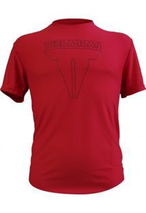 Camiseta Throwdown Dry Microfibra Vermelho / Preto