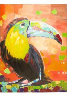 Quadro Pintura De Tucano Colorido Fullway