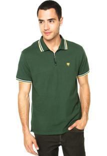Camisa Polo Cavalera Zíper Verde