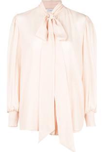 Givenchy Blusa Com Laço Na Gola - Rosa