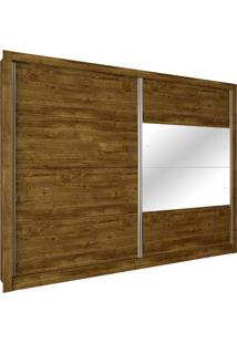 Guarda Roupa Flórida 2,74M 2 Portas Com Espelho Ipê Rustico