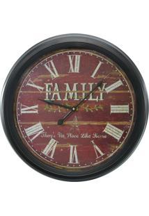 Relógio De Parede Family 62Cm Kasa Ideia - Tricae