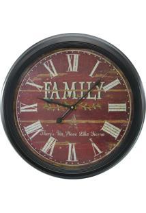 Relógio De Parede Family 62Cm Kasa Ideia