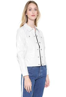 Jaqueta Calvin Klein Jeans Vinil Branca
