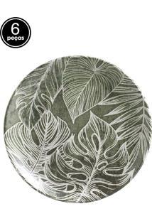 Jogo De Pratos De Sobremesa 6 Pçs Coup Herbarium Porto Brasil