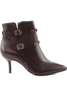 Ankle Boot Fivela Chocolate | Schutz