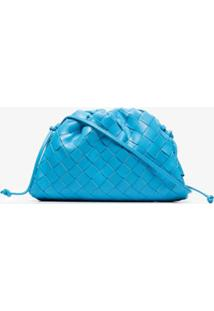 Bottega Veneta Bolsa Tiracolo Mini Com Trama Intrecciato - Azul
