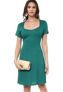 Vestido Energia Fashion Recortes Verde