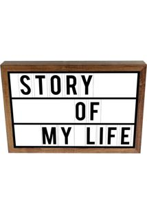 Luminária Prolab Gift Lightbox Story Of My Life Tabaco