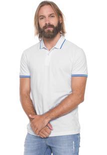 Camisa Polo Sommer Reta Listras Branca